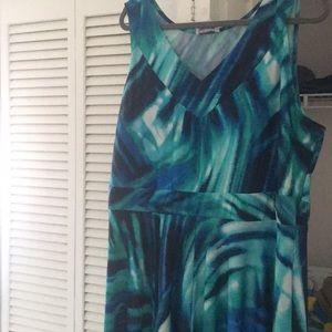 Beautiful avenue dress size 22/24 teal watercolor